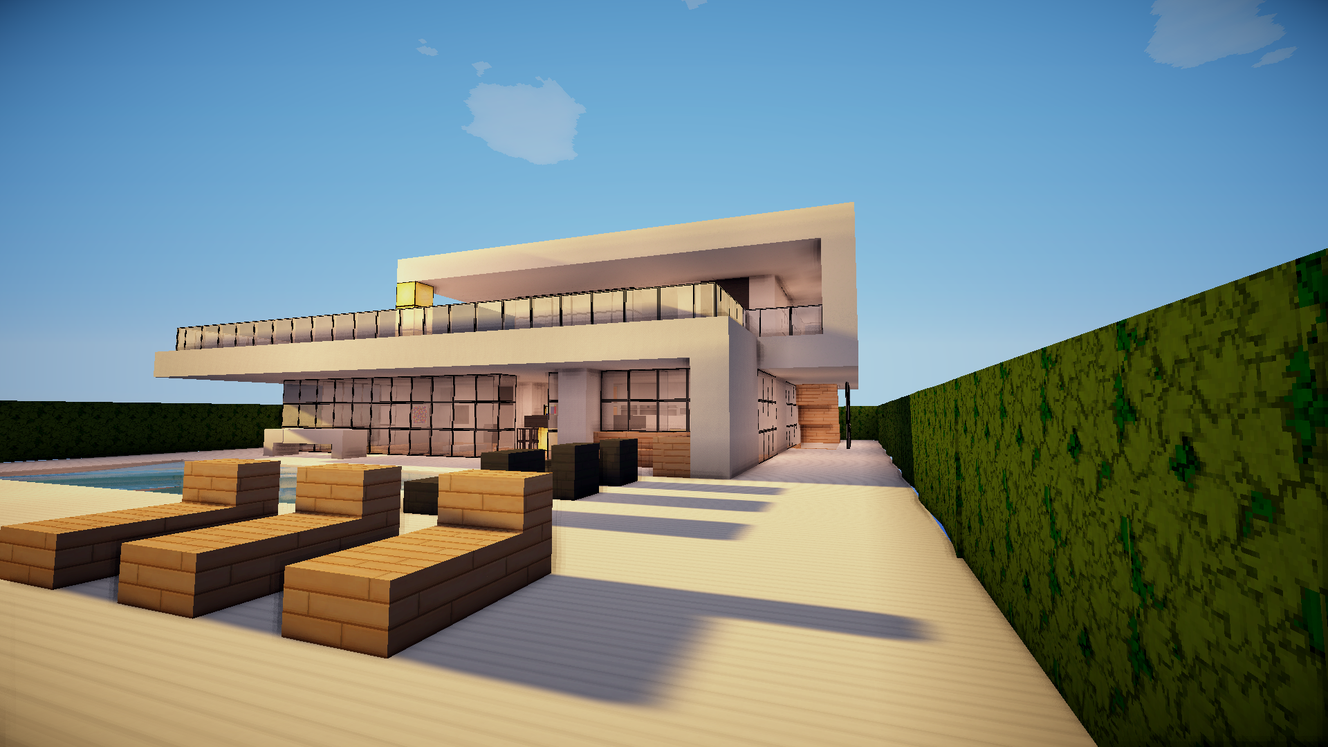 Modernes helles haus minecraft forum for Modernes haus minecraft
