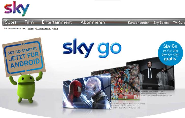 Sky Go Hilfe